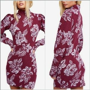 Free People Farrah Mock Neck Sweater Dress -NWT